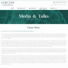 Cover Story of Dr Luke Tan