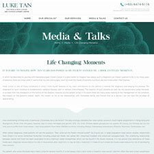 Life changing Moments Article from A/Prof Luke Tan